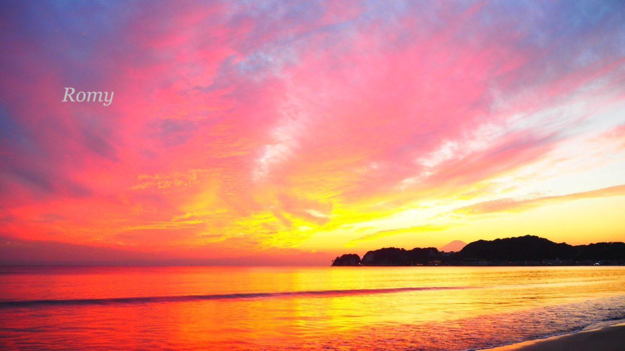 20161014_鎌倉・材木座海岸の夕焼け