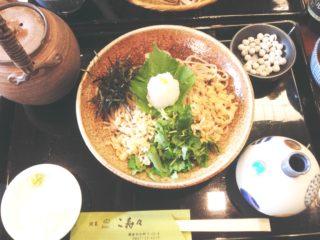 【段葛 こ寿々】鎌倉・若宮大路沿いの老舗蕎麦屋さん。わらび餅も絶品!
