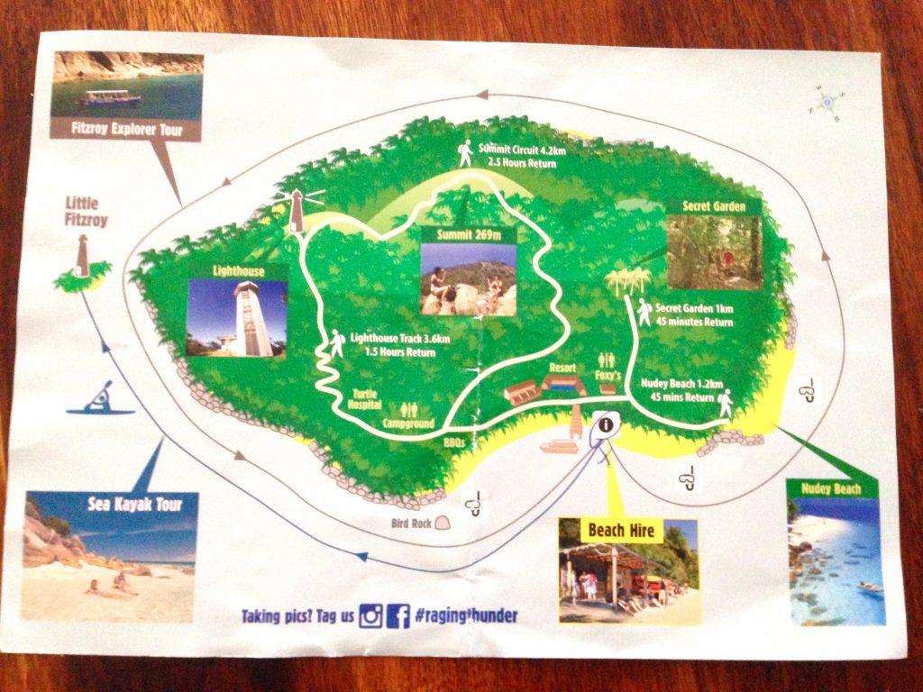 フィッツロイ島の地図