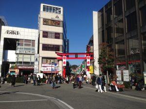 元旦の鎌倉駅前と小町通り