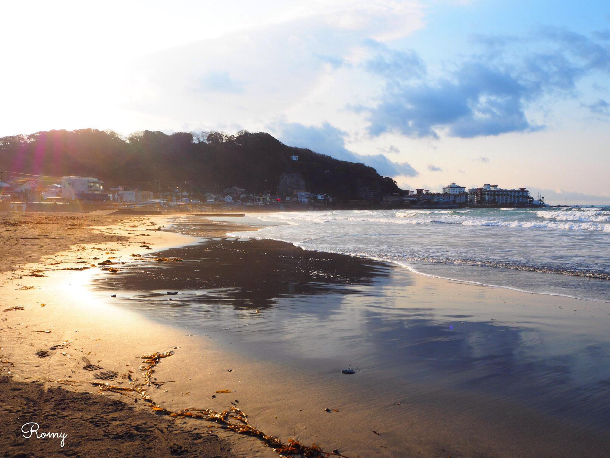 鎌倉材木座海岸 写真