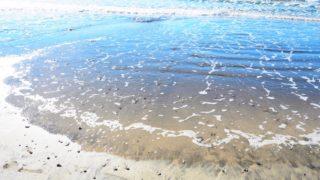 鎌倉・材木座海岸の海