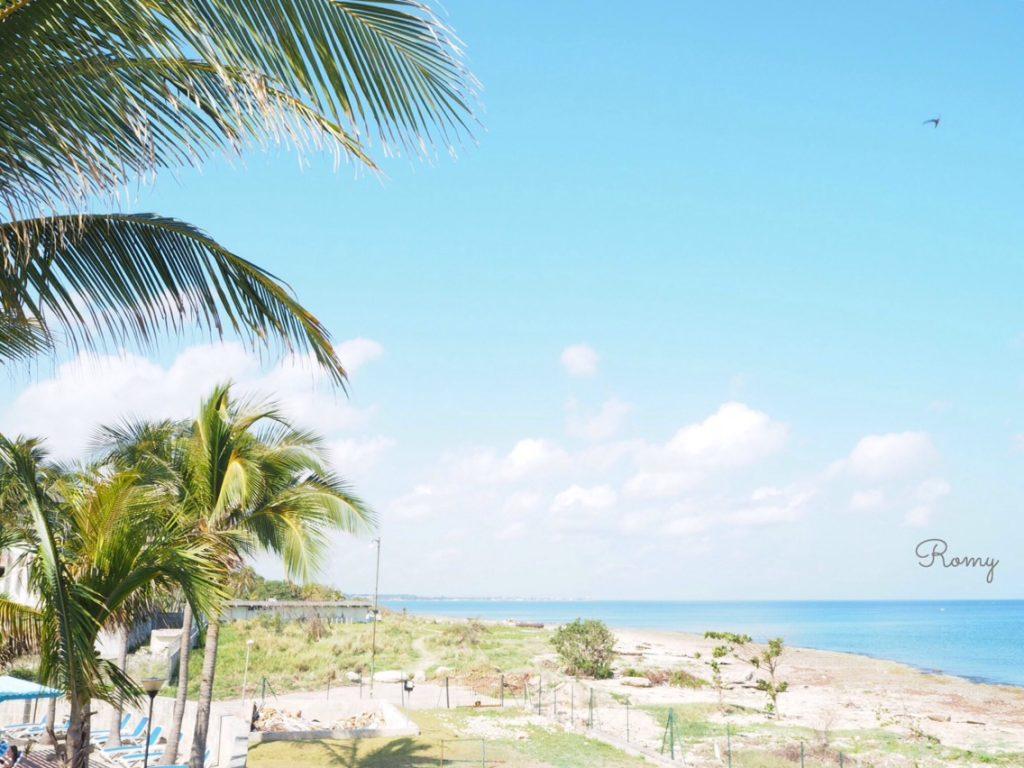 ハバナ新市街の海