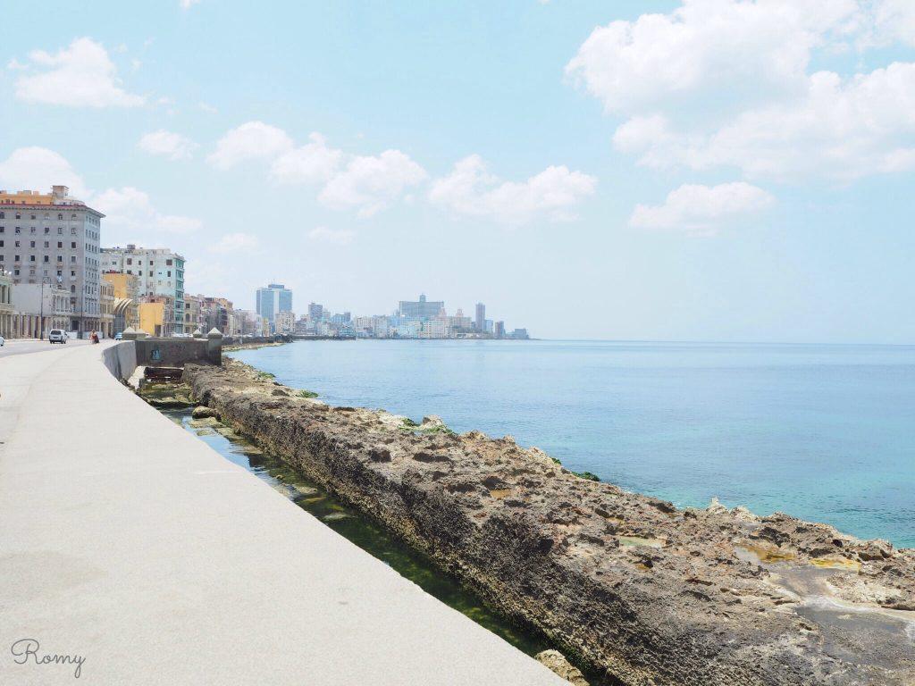 ハバナ旧市街側から見た新市街