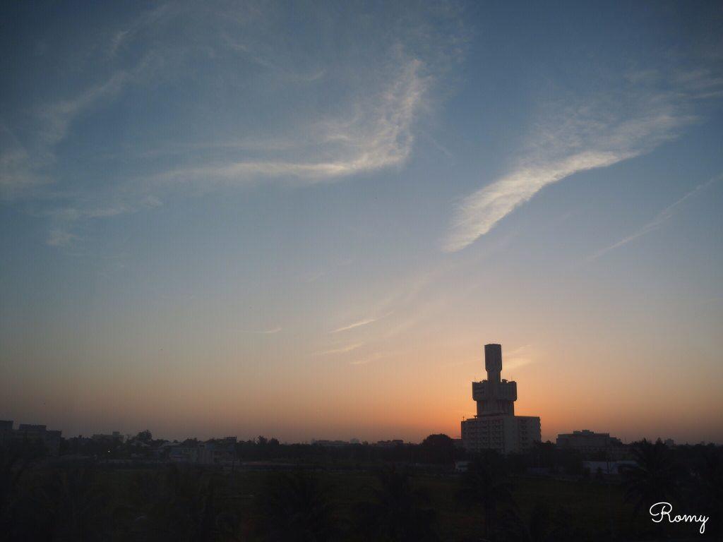 ホテル「H10 Habana Panorama」部屋から見た夕焼け