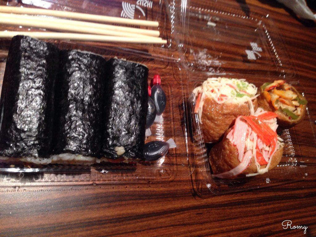 メルボルンのロール寿司