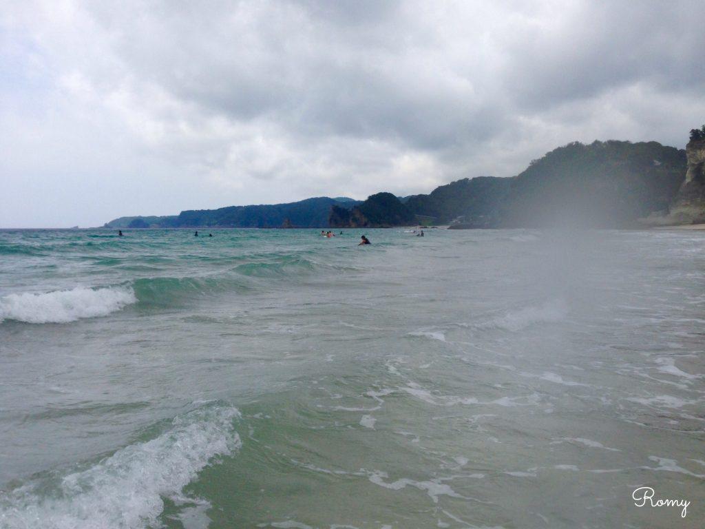 伊豆のサーフスポット、多々戸浜