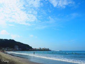 昼の鎌倉・材木座海岸