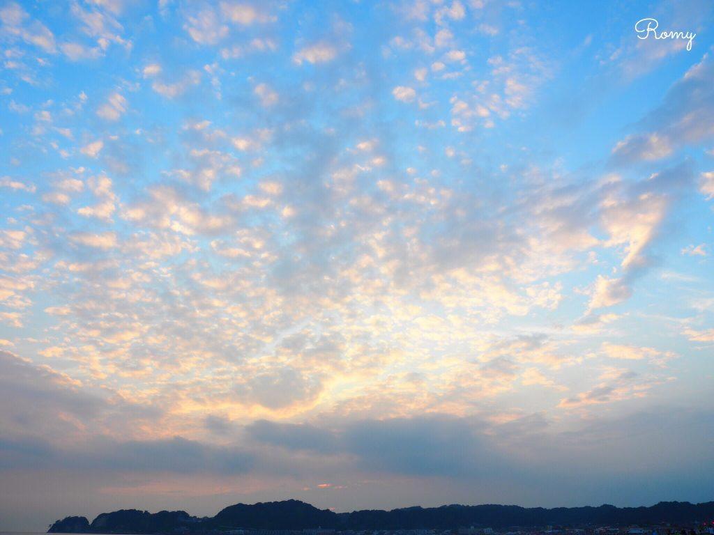 鎌倉・材木座海岸の夕焼け