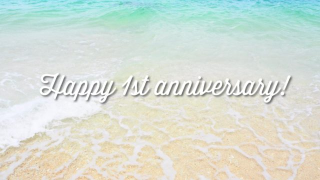 ブログ開設1周年!ブログ運営記録