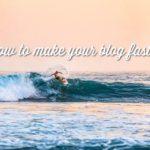 wordpressブログの高速化