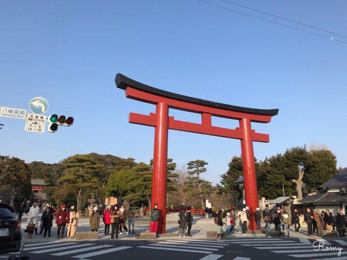 鎌倉・鶴岡八幡宮の三の鳥居
