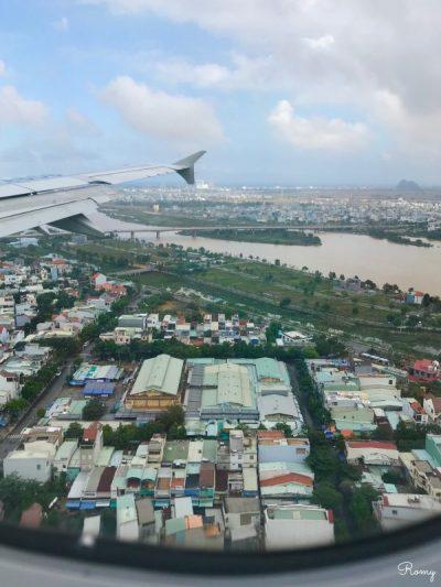 飛行機から見たベトナム・ダナン