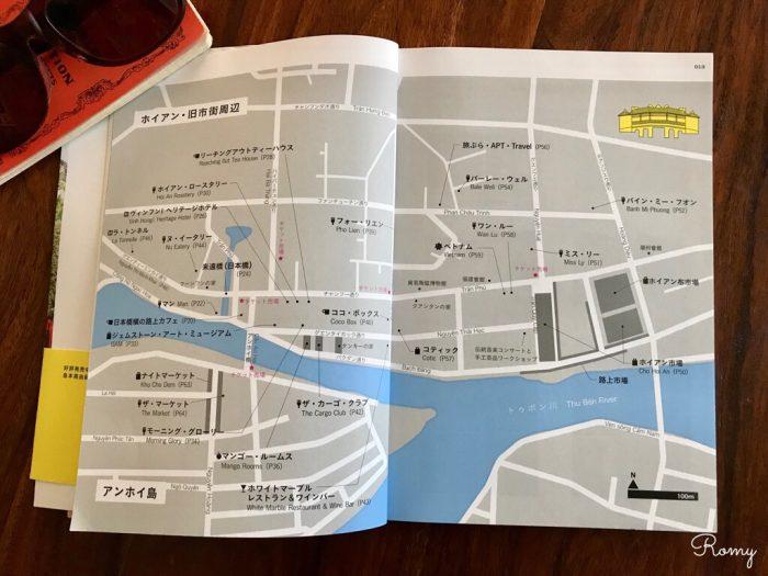 ベトナムの世界遺産ホイアンの街(地図)