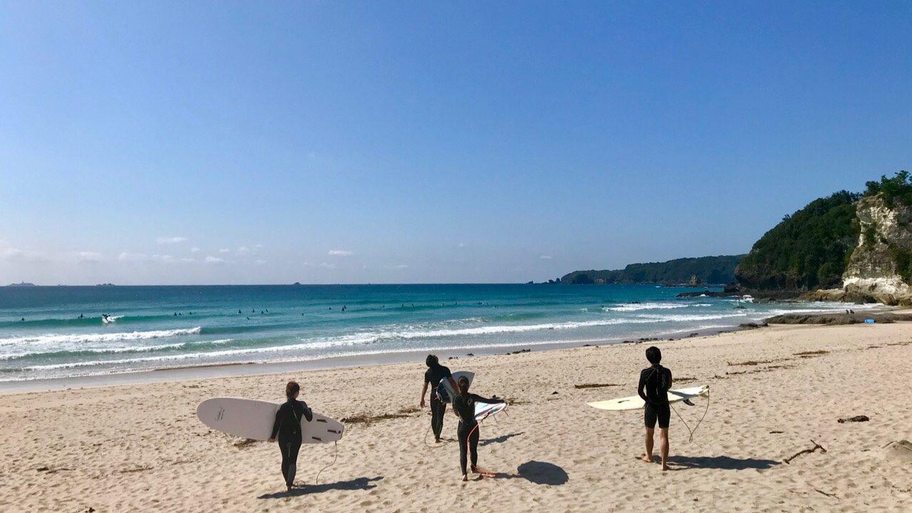 伊豆・下田のサーフポイント「多々戸浜」