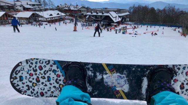 「ピラタス蓼科スノーリゾート」でスノボ体験