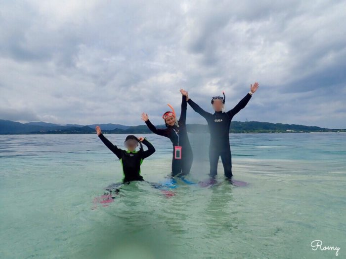 西表島のバラス島でスノーケリング
