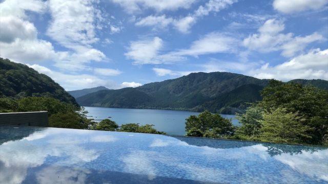 芦ノ湖と空